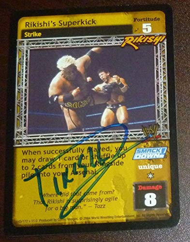 Rikishi Signed 2004 Raw Deal WWF Card Autograph WWE Pro Wrestling Comic Images 1 - Autographed Wrestling Cards from Sports Memorabilia