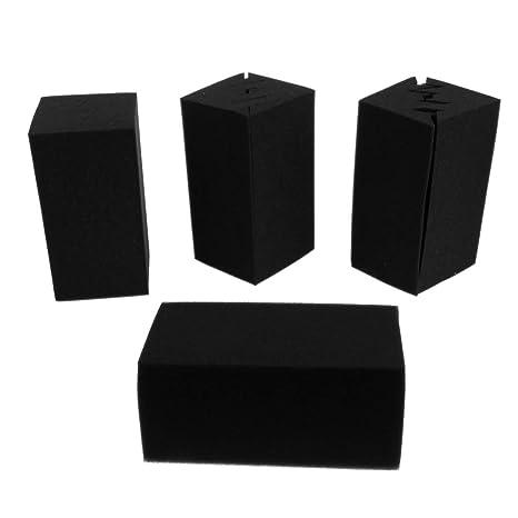 Sharplace 8pcs Estudio Acústico Espuma a Prueba de Sonido Paneles Nosie Amortiguación Negro