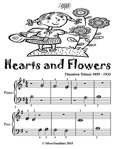 Hearts and Flowers Beginner Piano Sheet Music Tadpole Edition