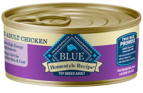 Blue Buffalo Homestyle Recipe Natural Adult Toy Breed Wet Dog Food, Chicken 5.5-oz can (Pack of 24) (Blue Buffalo Dog Toy Breed)