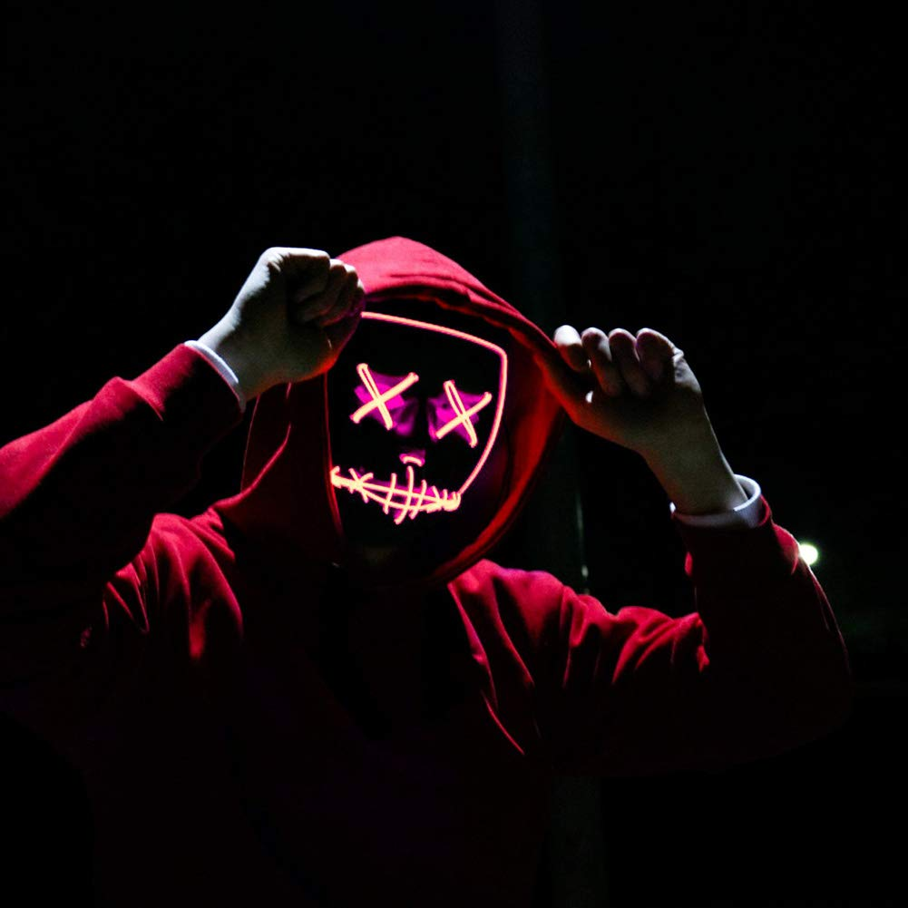 Amazon.com: Halloween Mask LED Light up Purge Mask for Festival Cosplay Halloween Costume for Festival Parties Costume: Home & Kitchen