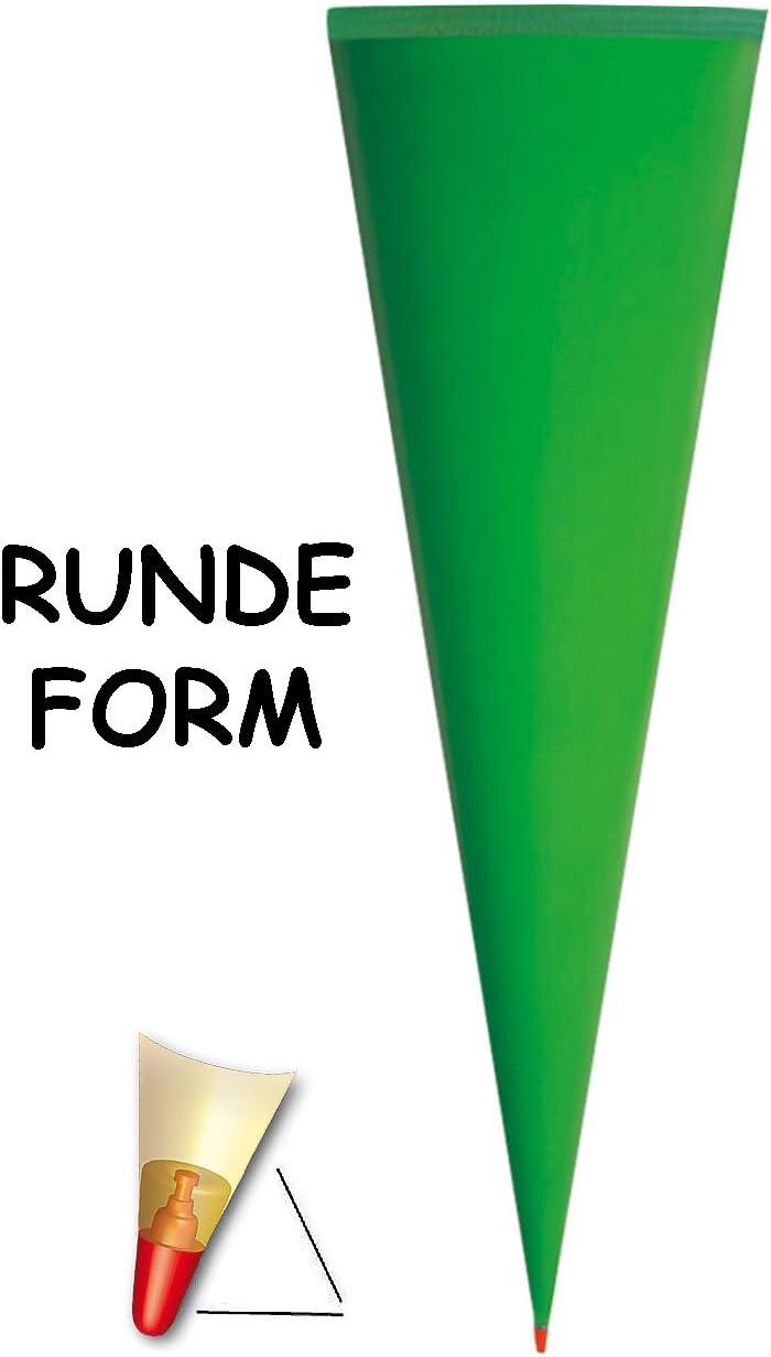 GR/ÜN alles-meine.de GmbH personalisierte 3D B/änder passend f/ür Schult/üte 35 // 50 // 70 // 85 cm Schleife Rohling OHNE T/üll Abschlu/ß mit // ohne Holzspitze /_/_/_ Zuckert/üte ALLE Gr/ö/ße..