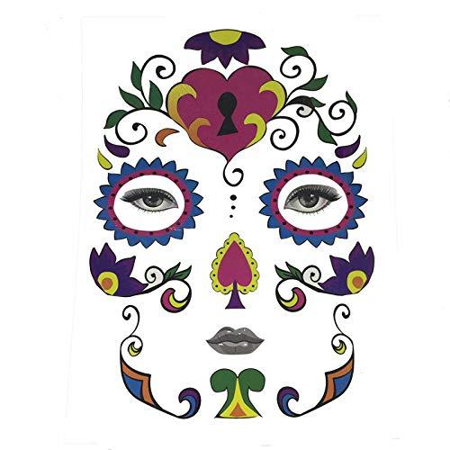 Stheanoo Halloween Face Sticker Temporary Face Art Waterproof