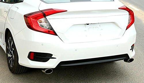 End Tip Pipes Exhaust Muffler 2pcs For Honda Civic 10th Gen 4dr Sedan 2016 2017