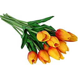Umiwe 30 pcs PU Fake Artificial Silk Tulips Flores Artificiales Bouquets Party Artificial Flowers For Home Wedding Decoration