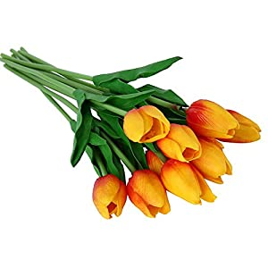 JetkyShop Umiwe 30 pcs PU Fake Artificial Silk Tulips Flores Artificiales Bouquets Party Artificial Flowers for Home Wedding Decoration 102