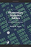 Elementary Statistics Tables, Henry R. Neave, 041508458X