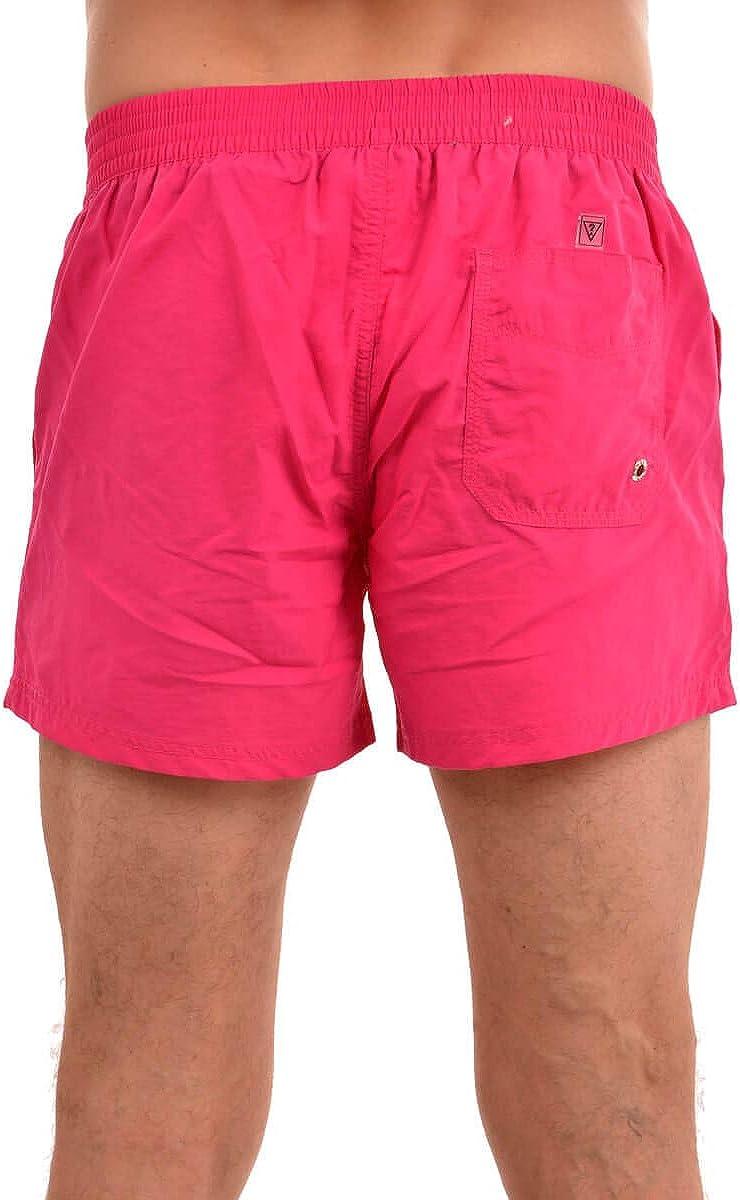 GUESS Pantalones cortos de baño hombres, Pantalones cortos de baño TROPICAL GATEWAY, Pantalones cortos para baño, Colores sólidos S-XL