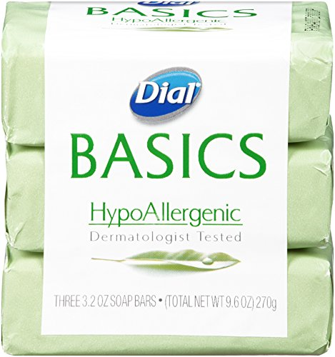 Dial Basics Bar Soap, Hypoallergenic, 3.2-Ounce Bars, 3 Count