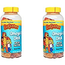 L'il Critters Omega-3 DHA Chewable Gummy Fish for Children - 2 Bottles, 180 Gummy Fish Each by Lil Critters