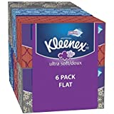 Kleenex Ultra Soft & Strong Facial Tissues, Medium Count Flat, 170 ct, 3 Pack