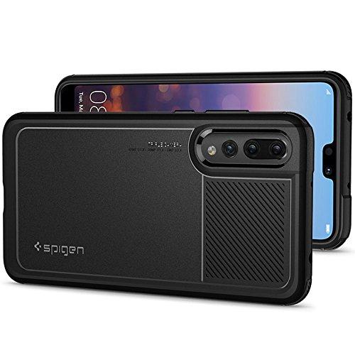 Spigen [Marked Armor] [Black] Case Compatible for Huawei P20