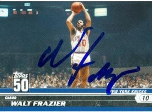 Walt Frazier Autographed Basketball - 6