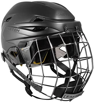 91e56402bdc Easton E700 Hockey Helmet w Cage-Black Matte-Small  Amazon.co.uk  Sports    Outdoors