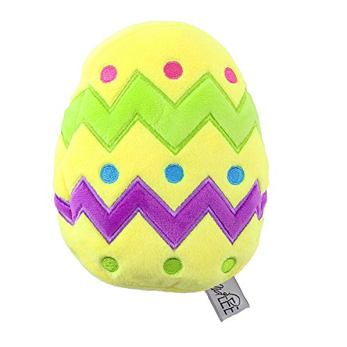 Midlee Plush Easter Egg Dog Toy with Squeaker