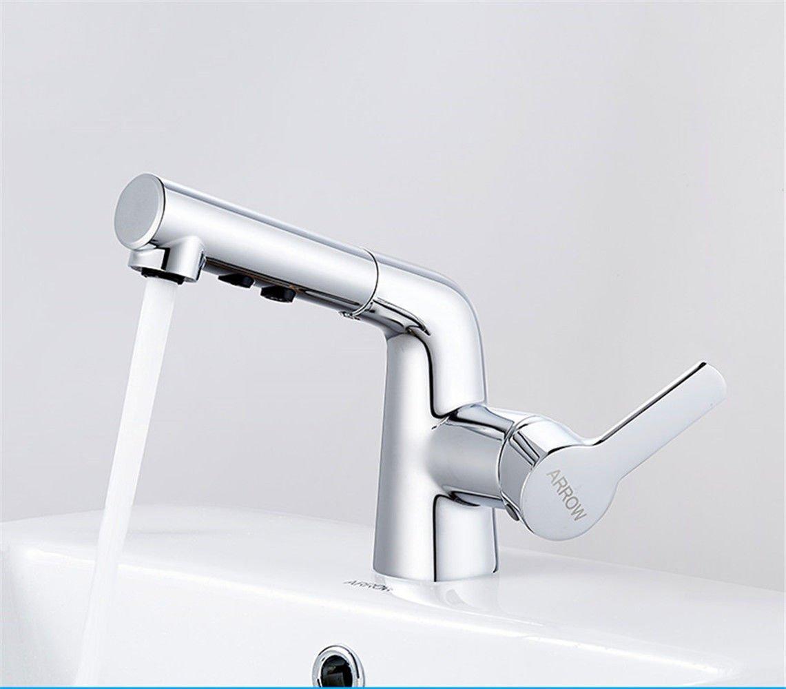 Oudan Basin Basin Basin Mixer Tap Bathroom Sink Faucet Hand wash basin faucet pull basin of hot and cold water bathroom scale Bathroom Faucet 6f79f9