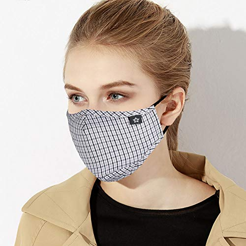 Washable Reusable Mouth Mask Cotton Anti Dust Half Face Mouth Mask for Men Women Dustproof With Adjustable Ear Loops (Humidity Mask)
