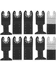 Ginorgee Svängande blad – 10 st svängande multiverktyg sågblad skärverktyg för Bosch Dremel Fein