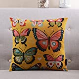 YJYS LJBY More colors American country-style pillow PP cotton back cushion Sofa bedside cotton and linen pillowcase-H 45x45cm(18x18inch) VersionB