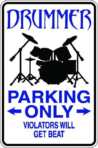 "(Occ40) Drummer Worker Occupation 9""x12"" Aluminum Novelty Parking Sign"