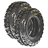 Set Pair of 2 SunF Knobby ATV UTV Sport Tires 23x7-10 23x7x10 6 PR A027