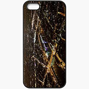 Protective Case Back Cover For iPhone 5 5S Case France Paris Eiffel Tower Night Beautiful View Black