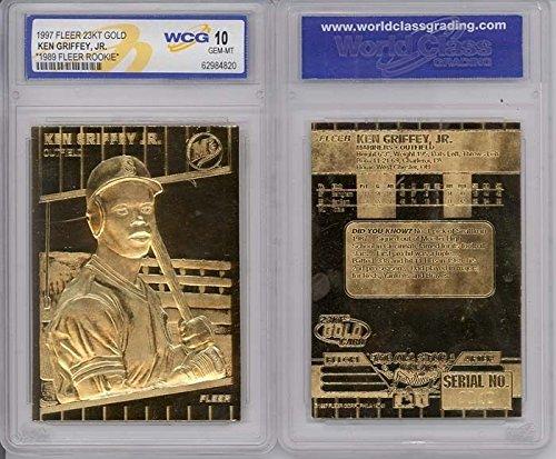 KEN GRIFFEY JR 1997 Fleer 23KT Gold Card Sculpted 1989 Rookie Graded GEM MINT 10