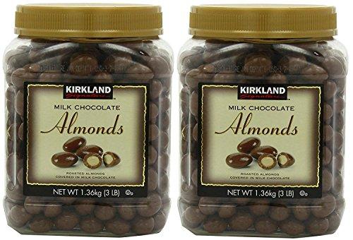 Kirkland Signature Milk Chocolate Almonds 2 Pack (Chocolate Coated Almonds)