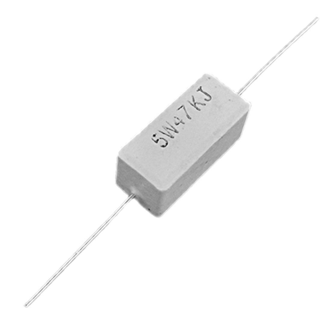 Sourcingmap/ /10/W 12/Ohm potenza resistore resistenza di cemento ceramico assiale piombo 10/pz bianco
