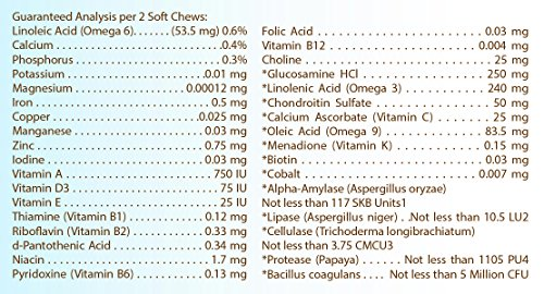 Image of Healthy Breeds Dog All in One Multivitamin Soft Chews for German Shepherd, Brown - Over 200 Breeds - Hip & Joint Digestion Skin & Coat Vitamins - 90 Chews