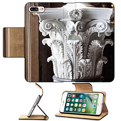 Hermitage Leather - MSD Premium Apple iPhone 7 Plus Flip Pu Leather Wallet Case Vintage Chapitel IMAGE 22075936