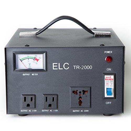 ELC TR-2000 2000 Watt Voltage Regulator with Transformer - S