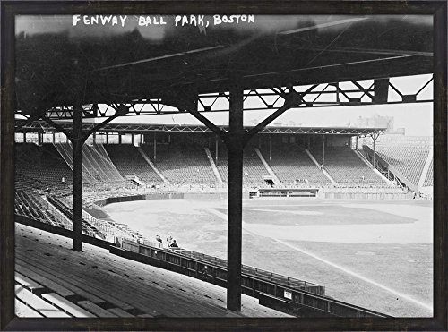 Fenway Park Framed Photo (Fenway Ball Park Boston by Lantern Press Framed Art Print Wall Picture, Espresso Brown Frame, 38 x 28 inches)