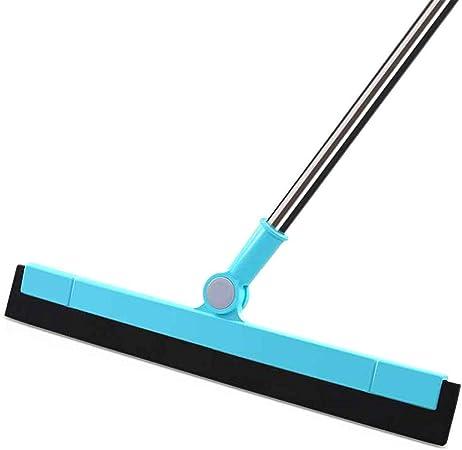 XINGV Escobilla Suelo, del Acero Inoxidable Limpiador del rascador, Professional Escobilla, para Lavar y Secar Superficies Planas y Curvas Mamparas Blue: Amazon.es: Hogar