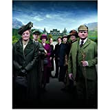 Downton Abbey Maggie Smith as Violet Crawley, Dowager Countess of Grantham with Others Out for a Stroll 8 x 10 Inch Photo