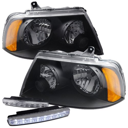 Lincoln Navigator Projector Halo - 2003-2006 Lincoln Navigator Headlights Lamps + 8 Led Fog Bumper Light