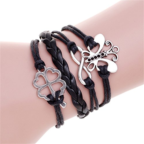 Freezing Engrave Epigram Charm Leather Bracelet Various Style Butterfly & LOVE & Anchor Charms Wholesale Jewelry,19 from Freezing