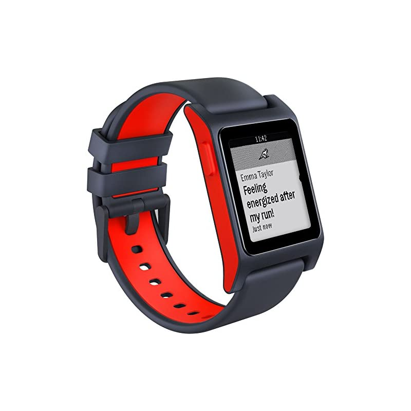 Pebble 2 + Heart Rate Smart Watch- Black