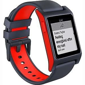 Pebble 2 + Heart Rate Smart Watch- Black/Flame