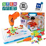 SYOSIN Design Drill Take Apart Toy Creative STEM Educational Construction Building Toys Tool Kit Workshop(144 Pieces)