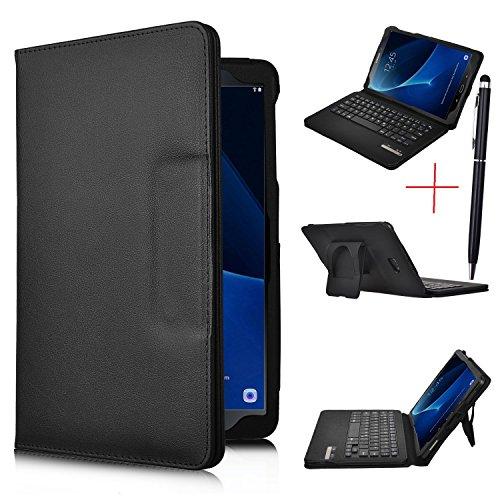 iBetter Samsung Galaxy Tab A 10.1 2016 Bluetooth Tastatur Hülle Keyboard Case [QWERTZ Tastatur],Tastatur Hülle Ultradünn leicht SmartShell Ständer Schutzhülle mit magnetisch abnehmbar drahtloser Bluetooth Tastatur für Samsung Galaxy Tab A 10.1 T580N/T585N 2016 Tablet(Schwarz)