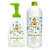 Babyganics 16 Ounce Dish Dazzler Foaming Dish and Bottle Soap with Refill Kit