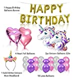 Unicorn Birthday Party Set Bundle (w/Unicorn Cake Topper & Cake Piping Kit) Unicorn Party Supplies - This magical unicorn gift and unicorn decoration set will make your kid's birthday party the BEST!