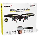 UDI U818A Wifi FPV Drone with HD Camera - VR Drone Quadcopter with Altitude Hold & Live Real Time Video - VR Headset & Power Bank Included (Certified Refurbished)