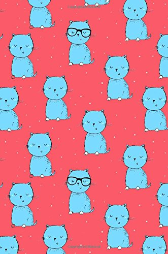 Journal Notebook For Cat Lovers Blue Cats On Red: 110 Page Lined and Numbered Journal With Index Pages In Portable 6 x 9 Size, Perfect For Writing, ... (My Favorite Lined Journal 2) (Volume 11) PDF