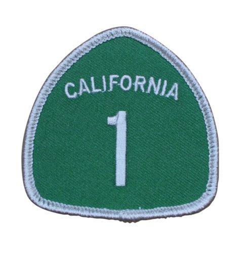 Highway 1 California Patch - Scenic Highway Big Sur San Francisco Sonoma Mendocino San Luis Obispo Monterey Mendocino Los Angeles Malibu (Iron On)