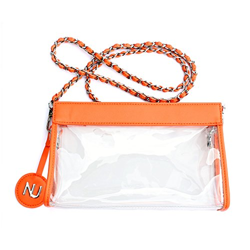 Bag Approved Boutique Handbags Clear Nu Clear Policy Purse Purse Stadium Crossbody Transparent Orange Quality Women nTvnAq8