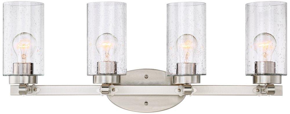 Holman 27 1/4'' Wide Brushed Nickel 4-Light Bath Light