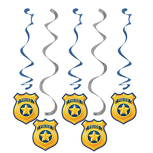 Creative Converting 329392 Police Party 30-Count Dizzy Dangler Decorative Streamers by Creative Converting