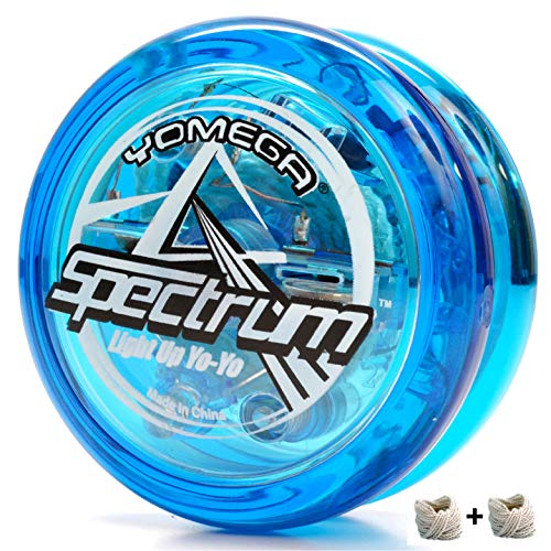 Yomega Spectrum - Light up Fireball Transaxle YoYo with LED Lights for Intermediate, Advanced and Pro Level String Trick Play (Colors May Vary)